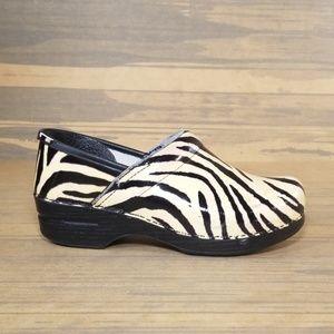 Dansko Womens Professional Zebra Print Clogs